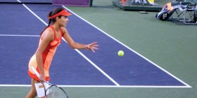 Photos of Ana Ivanovic vs. Caroline Wozniaki at the 2012 BNP Paribas Open