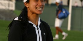 Playing Soccer (volleyball) with Anne Keothavong