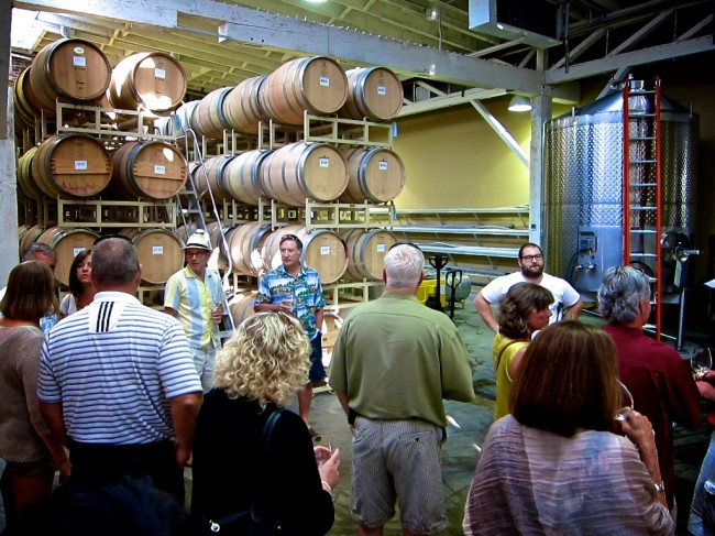 One of the winery tours
