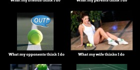 What People Think About Playing Tennis