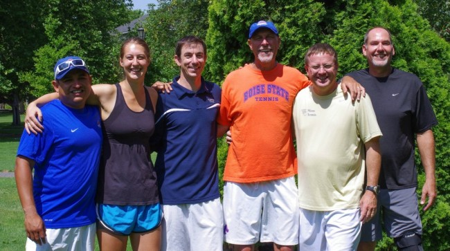The fantastic staff - Fernando, Emily Rolston, John Hein, Greg Patton, Coach Northam and Tom Sawatzki