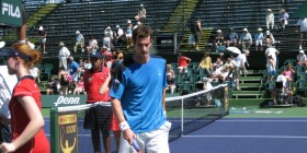Andy Murray in his match with Robredo