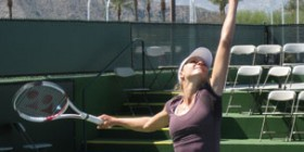 Maria Kirilenko Serving Warm Up